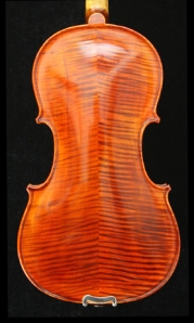 West Coast Strings Peccard violin Back Image